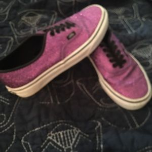Purple glitter vans